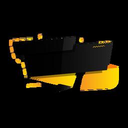 Assinar tablet e adesivo em zigue-zague