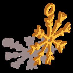 Anillo de copo de nieve isométrico