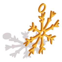 Snowflake ring isometric