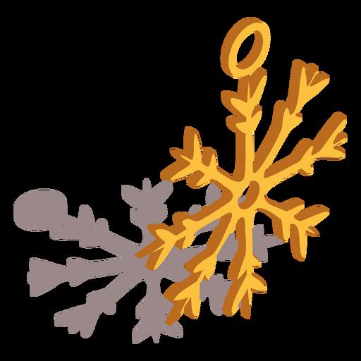 Anillo de copo de nieve isométrico Transparent PNG