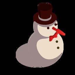 Sombrero de muñeco de nieve isométrico