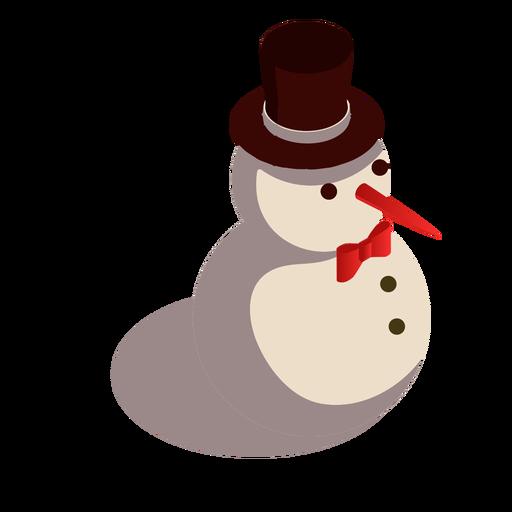 Sombrero de muñeco de nieve isométrico Transparent PNG