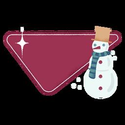 Etiqueta engomada de la insignia de la bufanda del muñeco de nieve