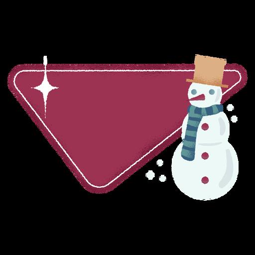 Insignia de bufanda de muñeco de nieve Transparent PNG