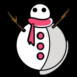 Bufanda de muñeco de nieve plana