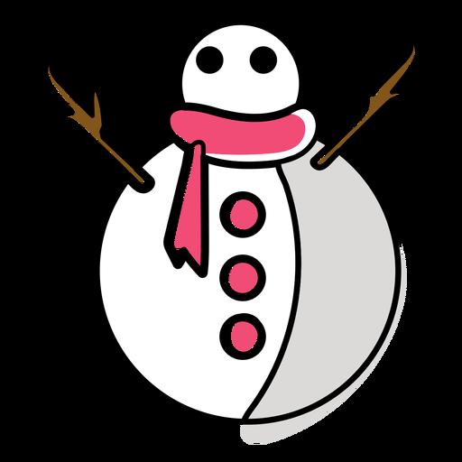 Bufanda de muñeco de nieve plana Transparent PNG