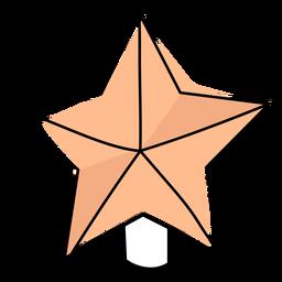 Star flat christmas