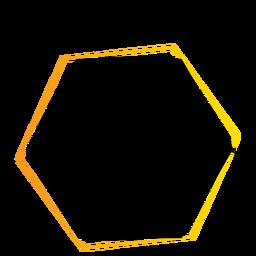 Insignia de etiqueta hexagonal de signo de tableta