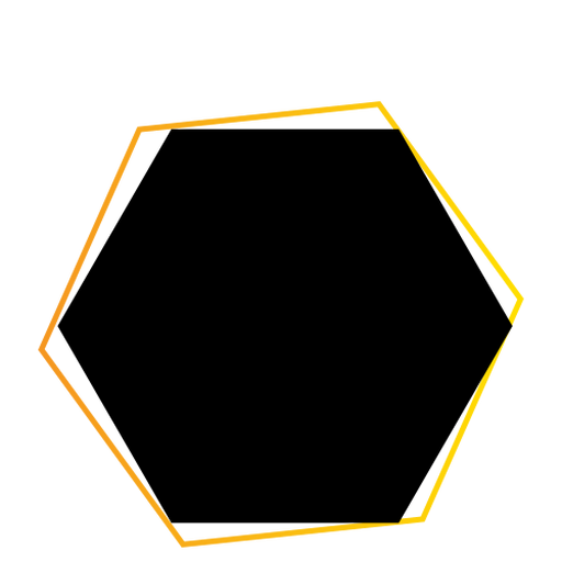 Insignia de etiqueta hexagonal de signo de tableta Transparent PNG