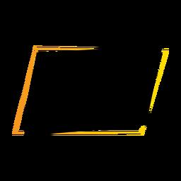 Insignia de la etiqueta engomada del paralelepípedo del signo de la tableta