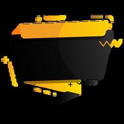 Tableta con signo más insignia en zigzag