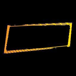 Crachá de adesivo retangular de sinal de tablet