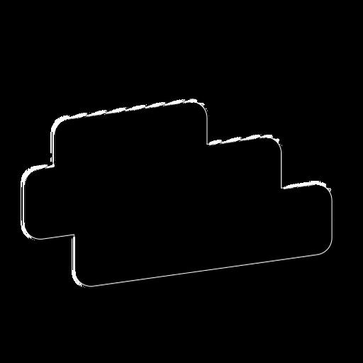 Tablet sign stripe badge sticker