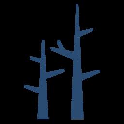 Haste de galho de árvore plana