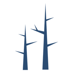 Tree branch stem flat