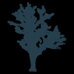 Silueta de tallo de rama de árbol