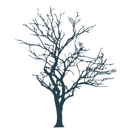 Tree branch stem silhouette