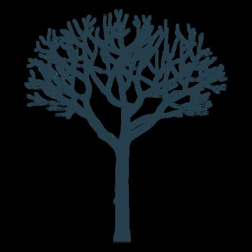 Silueta de tronco de rama de árbol
