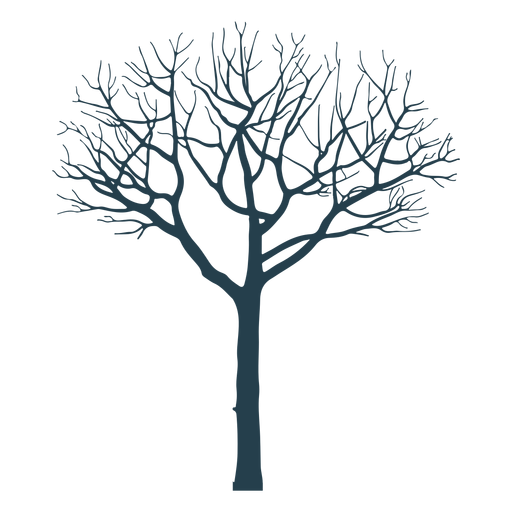 Tree branch trunk silhouette Transparent PNG