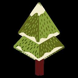 Árbol de nieve aguja isométrica