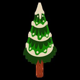 Árbol de nieve tallo isométrico