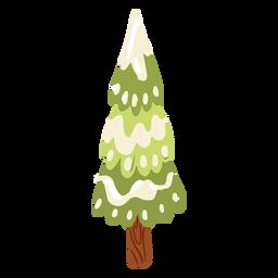 Tree stem snow isometric