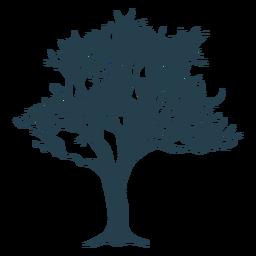 Silhueta de galho de tronco de árvore
