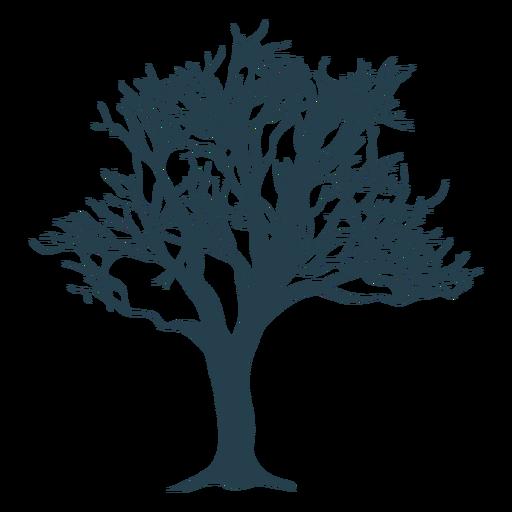 Silueta de rama de tronco de árbol