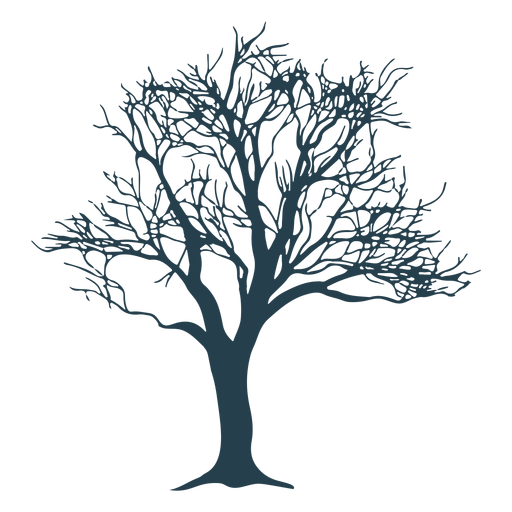 Tree trunk branch silhouette Transparent PNG