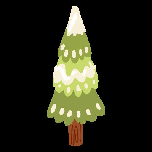 Tree trunk snow isometric