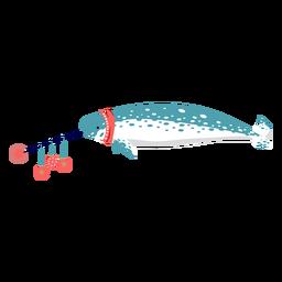 Ballena pez espada Navidad plana