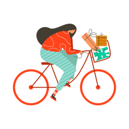 Bicicleta mujer caja regalo plana