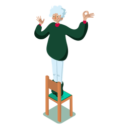 Woman chair isometric