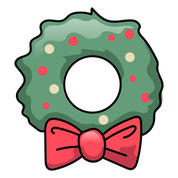 Wreath bow flat