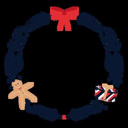 Guirnalda arco regalo plano