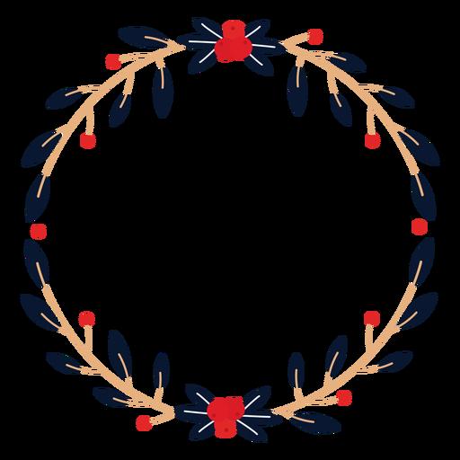 Guirnalda rama winterberry plana