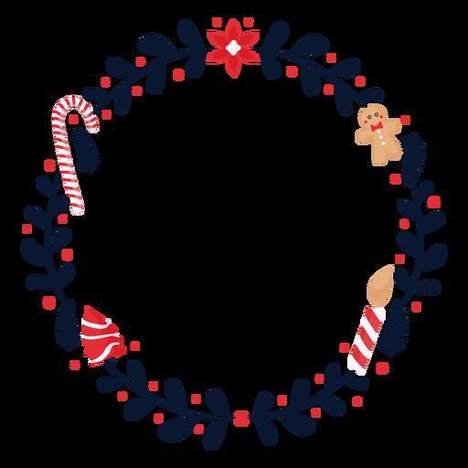 Guirnalda flor bastón de caramelo plano