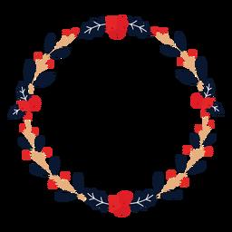 Guirnalda winterberry rama plana