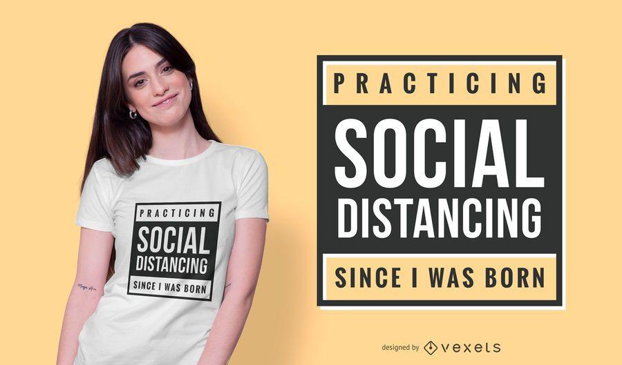 Social Distancing Text T-shirt Design