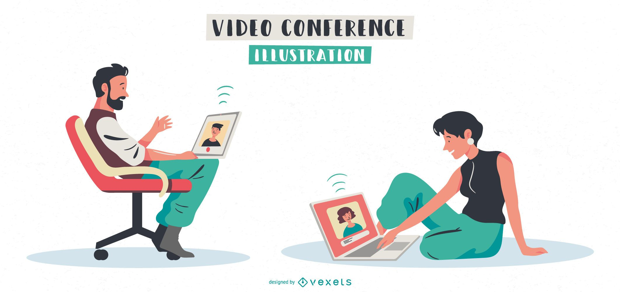 Pacote de personagens para videoconferências