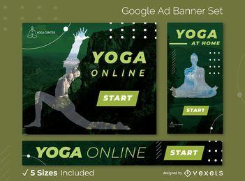 Paquete de banners de anuncios de Google para yoga