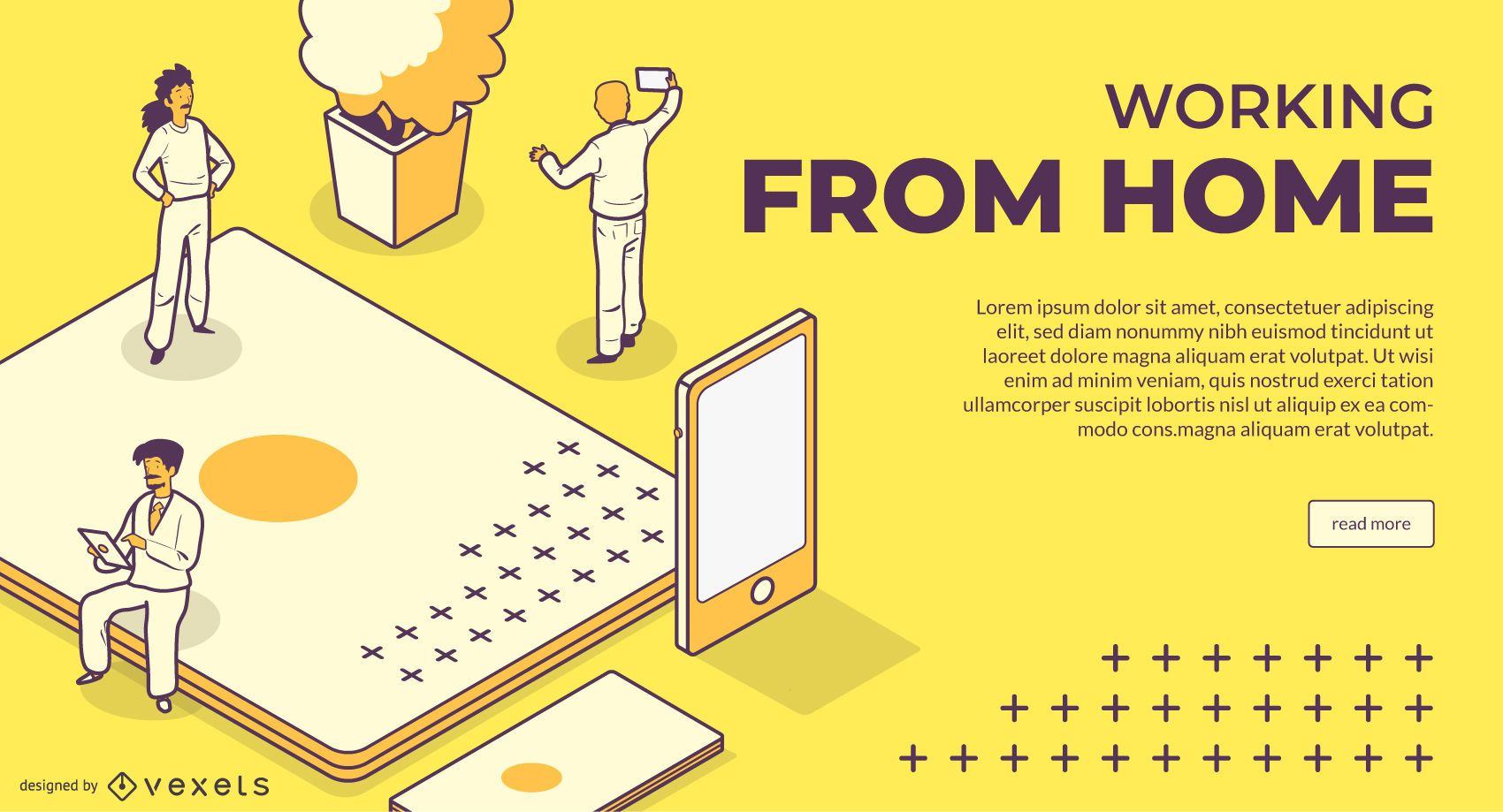 Working From Home Web Slider