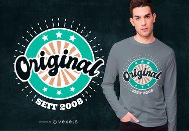 Originaler Geburtstag deutscher T-Shirt Entwurf