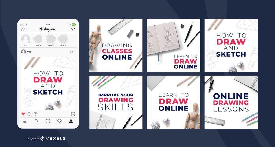 Drawing classes social media posts