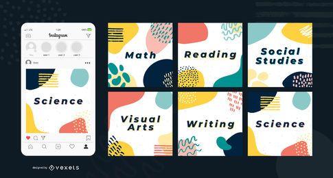 Bildung abstrakte Social-Media-Beiträge