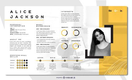 Bright Creative Resume Template