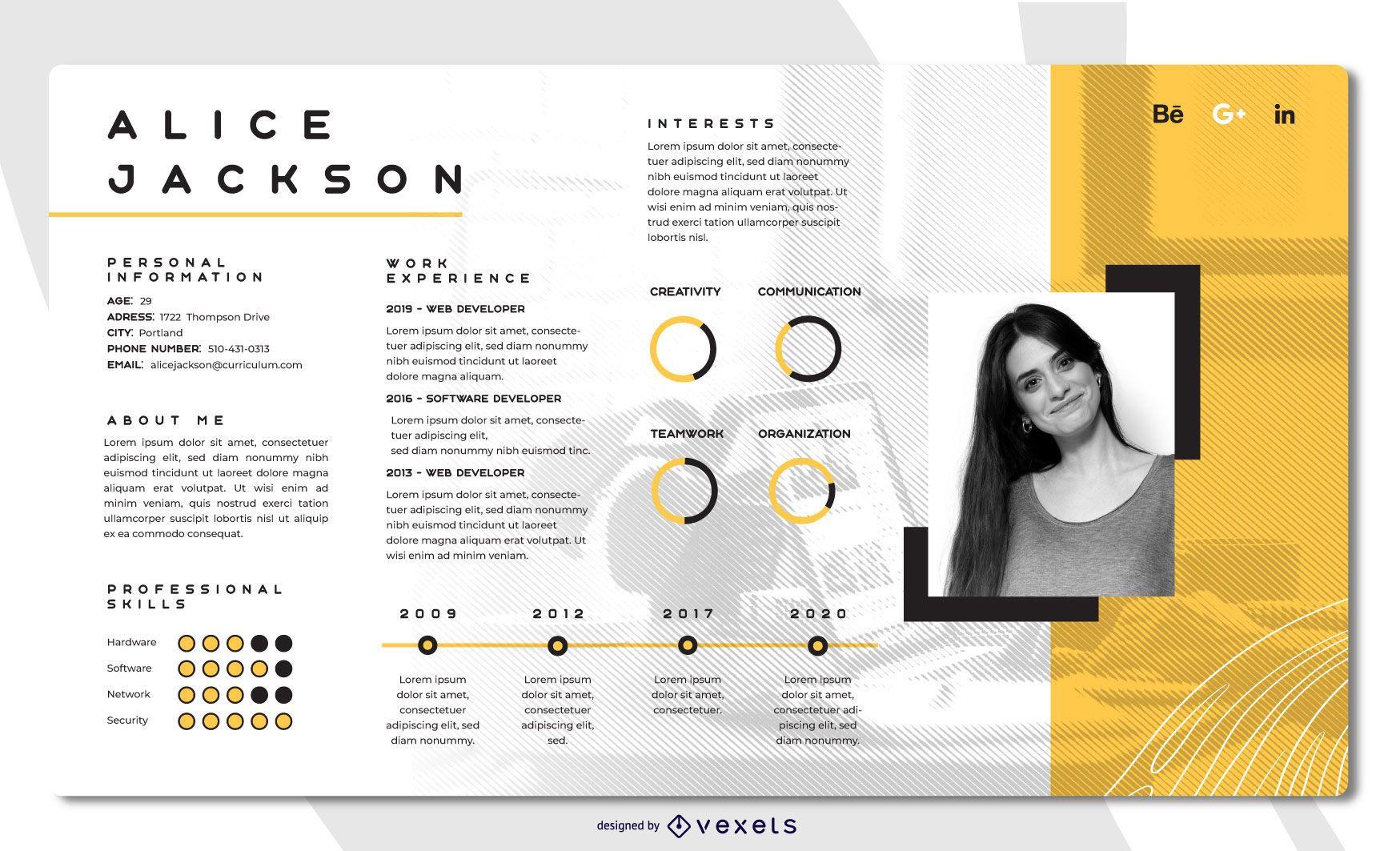 Bright Creative Resume Template