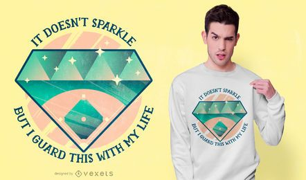 Design de t-shirt de citações de beisebol