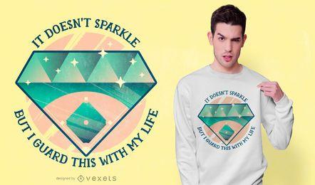 Diseño de camiseta de cita de béisbol
