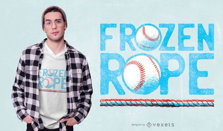 Frozen Rope Baseball T-shirt Design